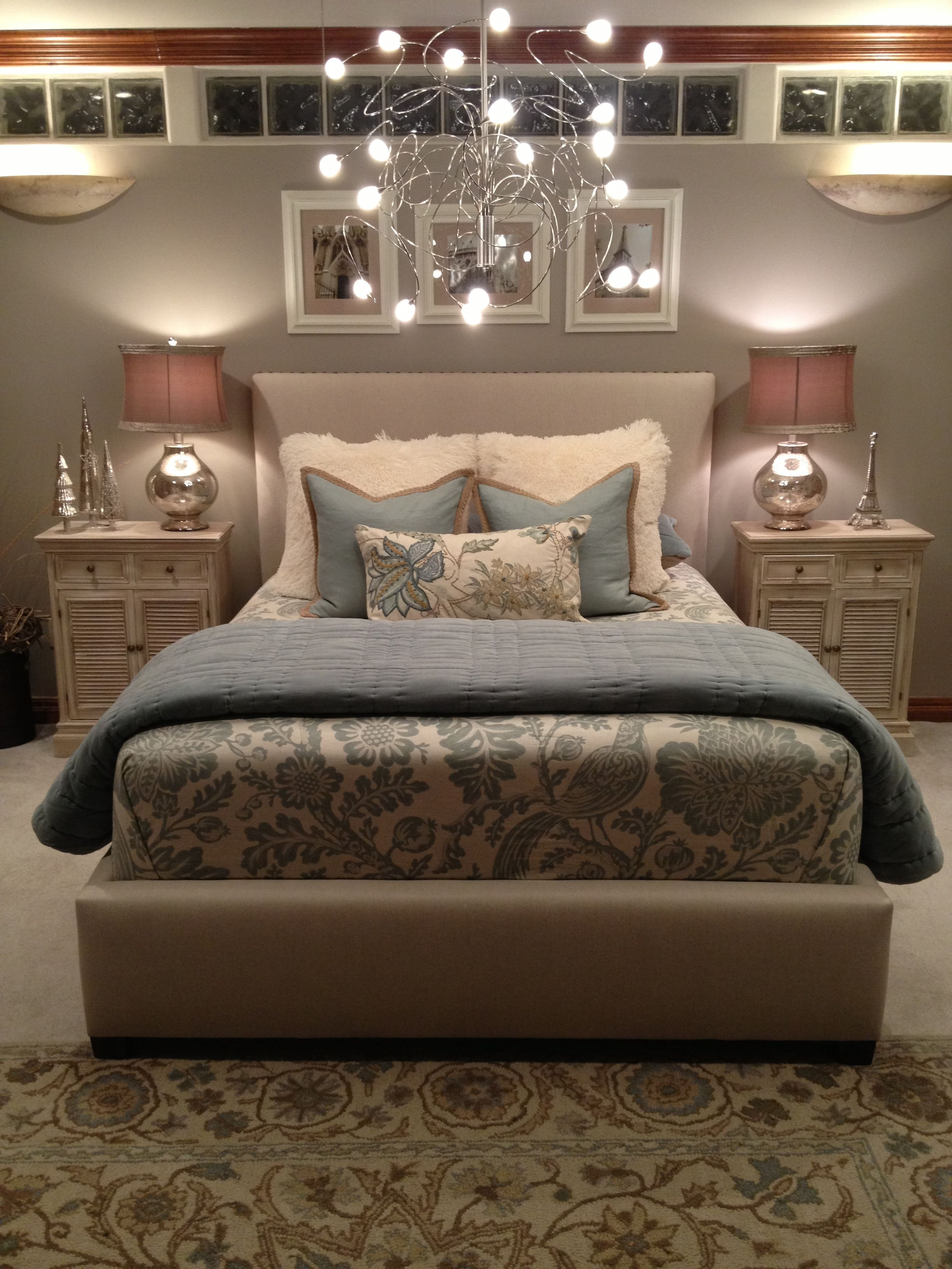 Master bedroom modern  Room Crush A modern romantic bedroom the colors soften it up