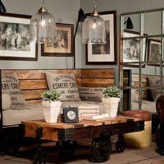 Resultado de imagem para DIY rustic living room