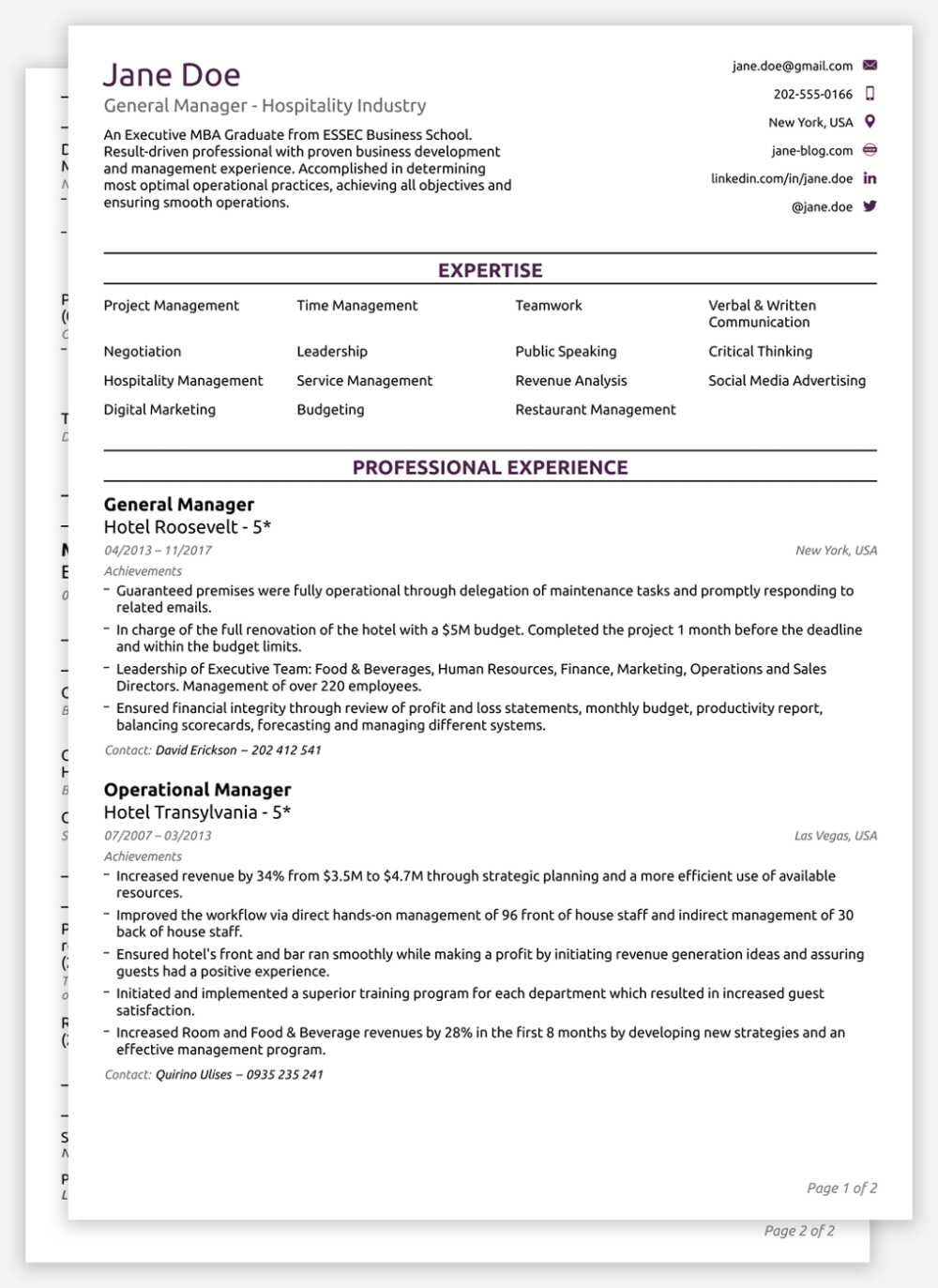 resume format Google Search in 2020 Resume template