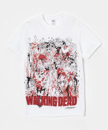 Look at this #zulilyfind! White & Red 'Walking Dead' Tee - Men #zulilyfinds