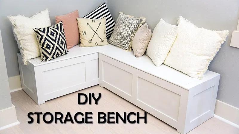 Kitchen Nook Storage Bench DIY