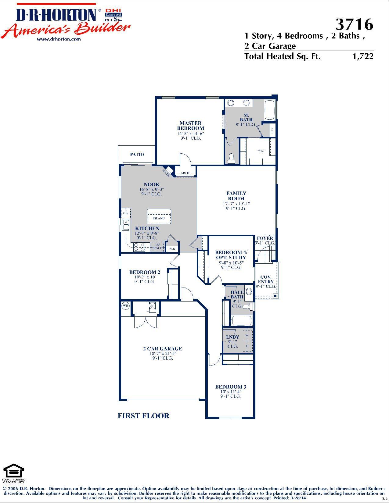 DR Horton Sandoval Floor Plan via wwwnmhometeamcom DR Horton