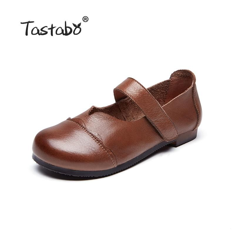 5d99b88b475 Tastabo Genuine Spring Leather Flat Shoe Driving Shoe Female Moccasins  Fashion Women Flats Hand-Sewing