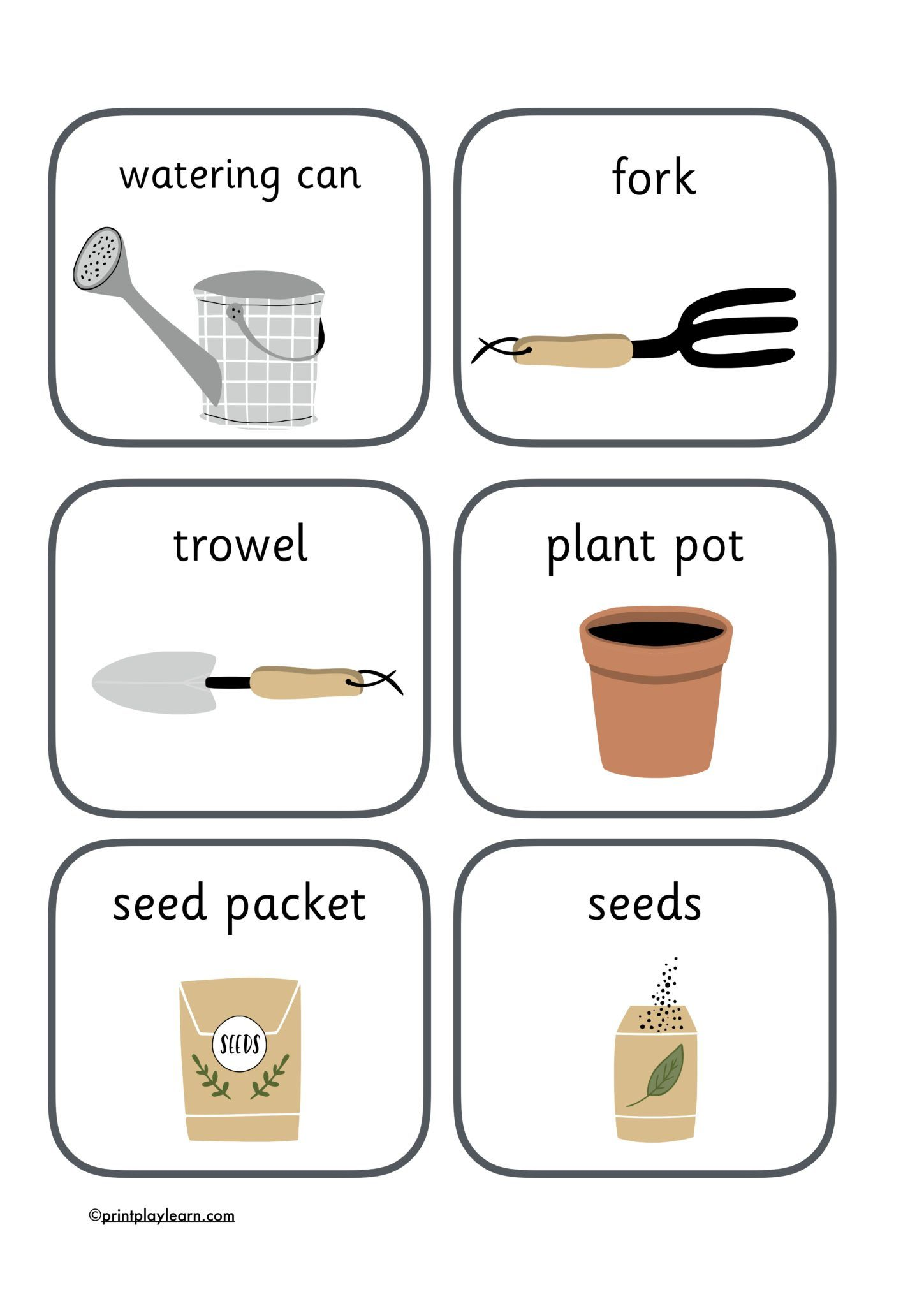 Gardening Tools Flashcards