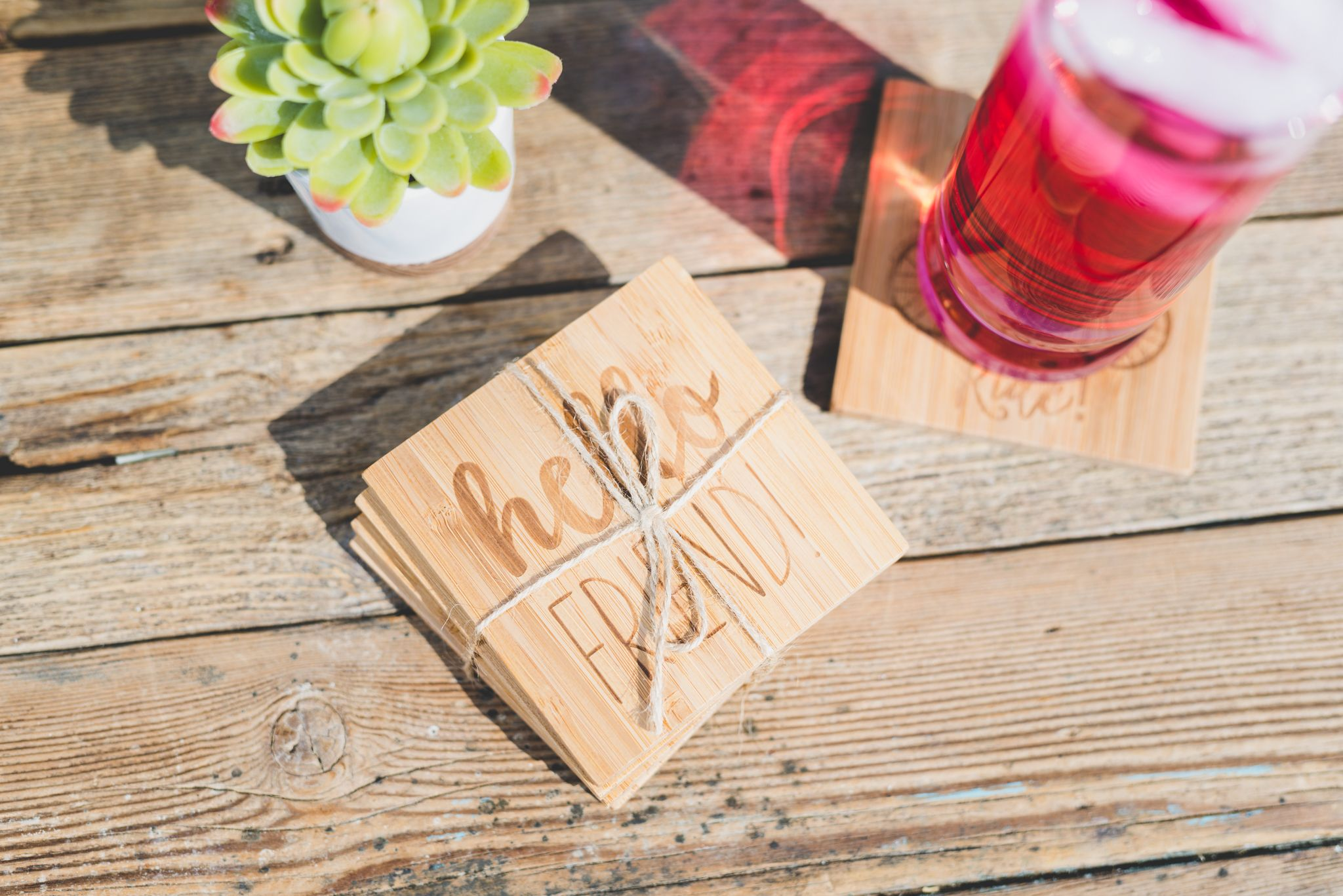 Grab A Bundle Of Our Bamboo Coasters Perfect For Indoor And Outdoor Entertaining