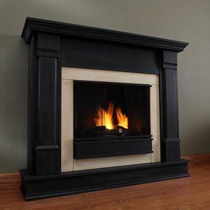 Silverton Gel Fuel Fireplace Black Finish Gel Fireplace