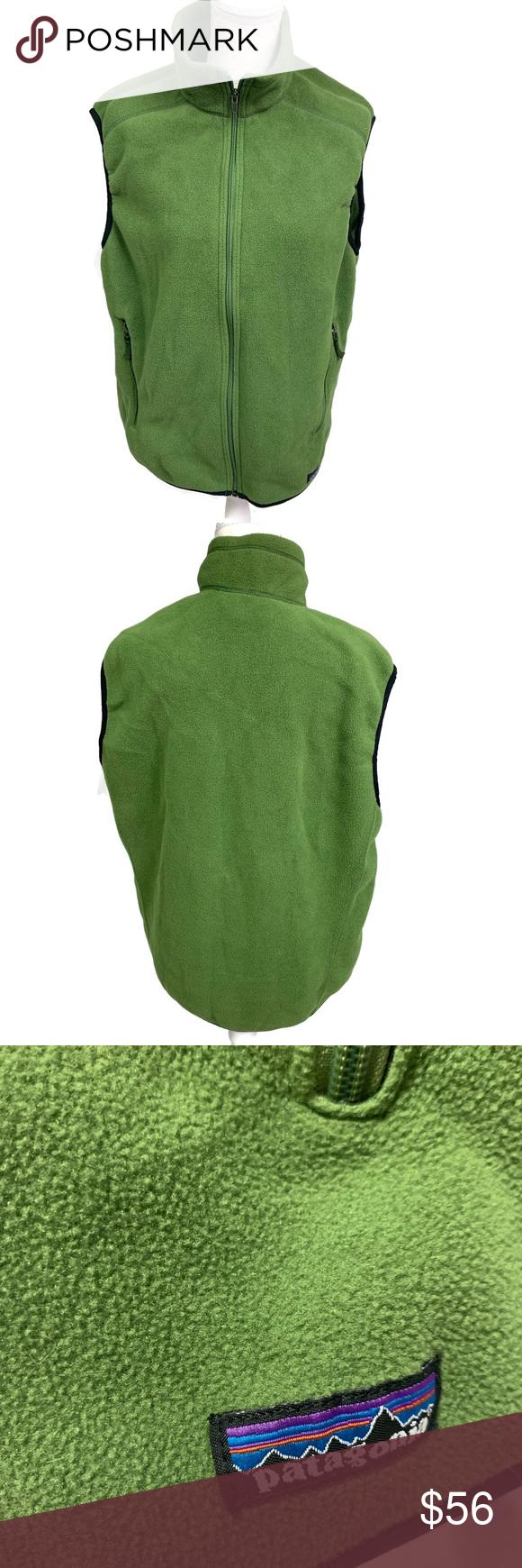 Patagonia Men S Synchilla Fleece Vest Green L Synchilla Patagonia Mens Fleece Vest