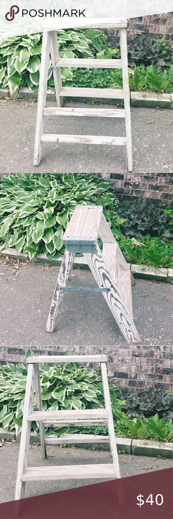 Best Vintage Small Folding Wooden Step Ladder In 2020 Wooden 640 x 480