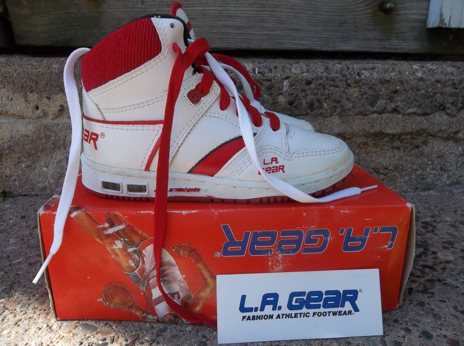331d4b19a80 L A Gear Double Lace Kareem Abdul Jabbar OG Vintage Basketball Shoes Size 2  1 2