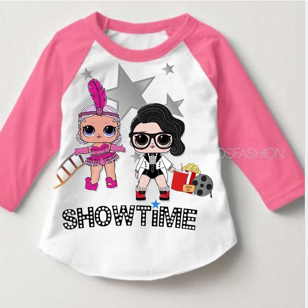 LOL Dolls Girl Princess Clothing Hoodies Tops Outfits Girls Sweater Pink Blue