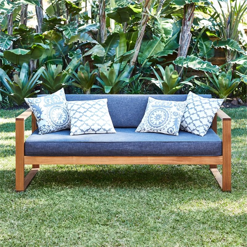 Mimosa Timber Avani Daybed With Grey Cushions Outdoor