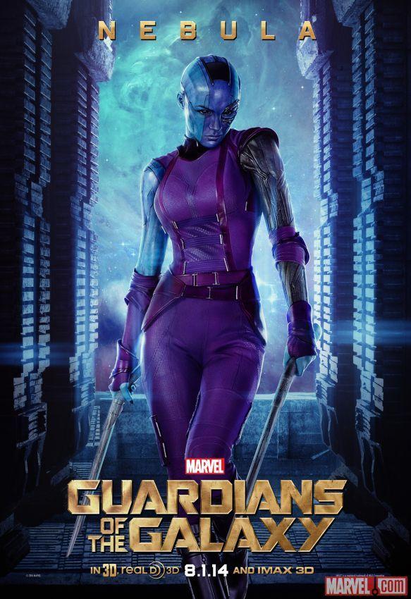 Marvel S Guardians Of The Galaxy Poster Featuring Nebula Karen Gillan Nebula Marvel Galaxy Movie Guardians Of The Galaxy