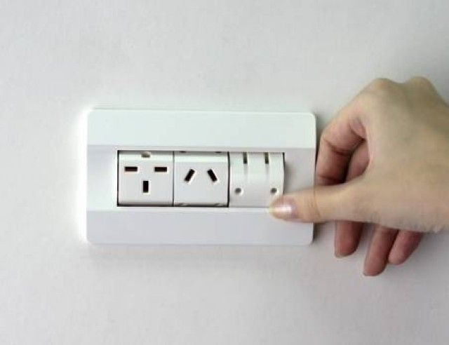 Mysterious Spinning Power Outlet Accepts Any International Plug Electrical Outlets Hostels Design Wall Outlets