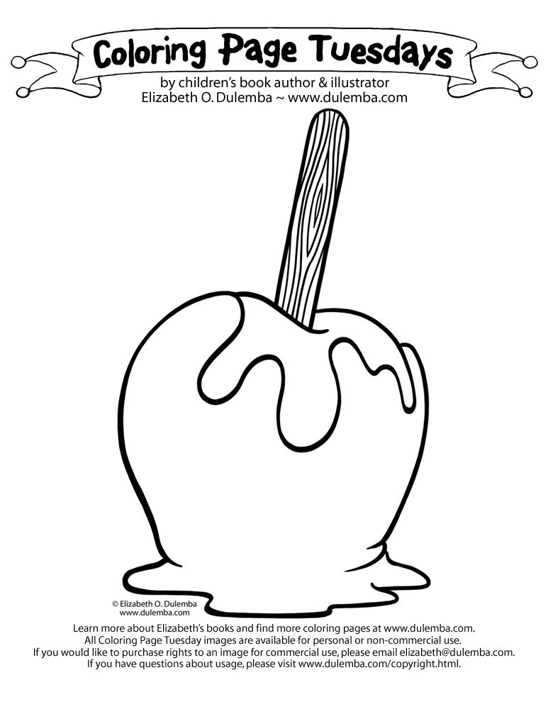 Halloween Coloring Pages Bing Images Rhpinterest: Caramel Apple Coloring Pages At Baymontmadison.com