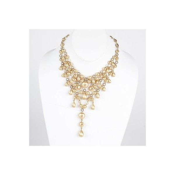 Jewelry Stunning 18K Gold Torsade Necklace ($6,800) found on Polyvore