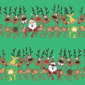 Christmas Reindeer by cbl, Spoonflower digitally printed fabric