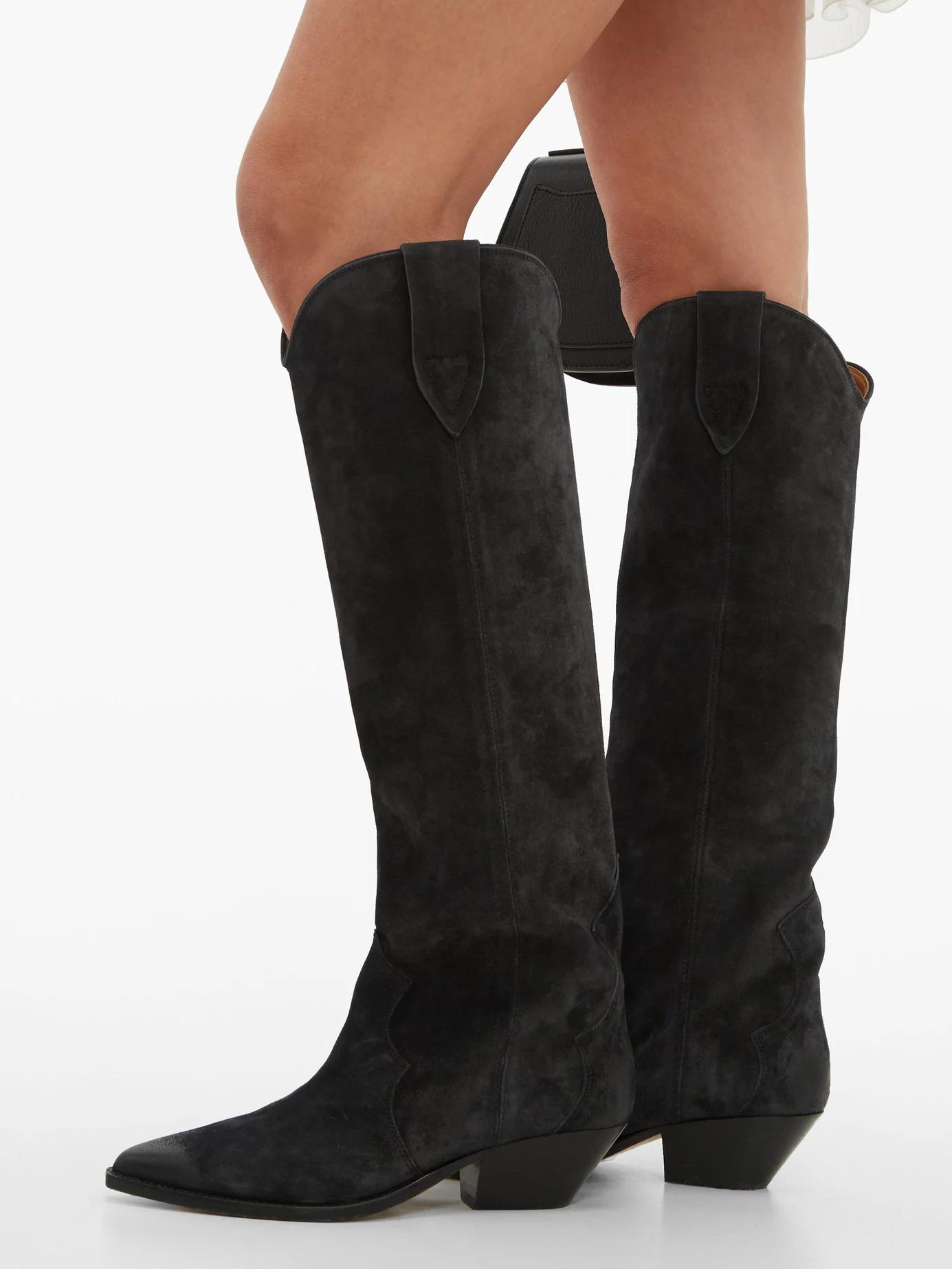 Denvee suede knee high boots   Isabel Marant