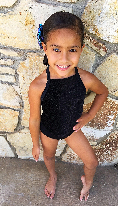 Black Velvet Girls Dancewear Leotard | KAS dance customs- dancewear ...