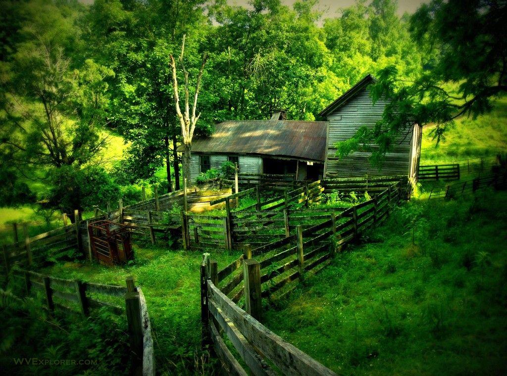 Barn near Vandalia | Old farm houses, West virginia, Old barns