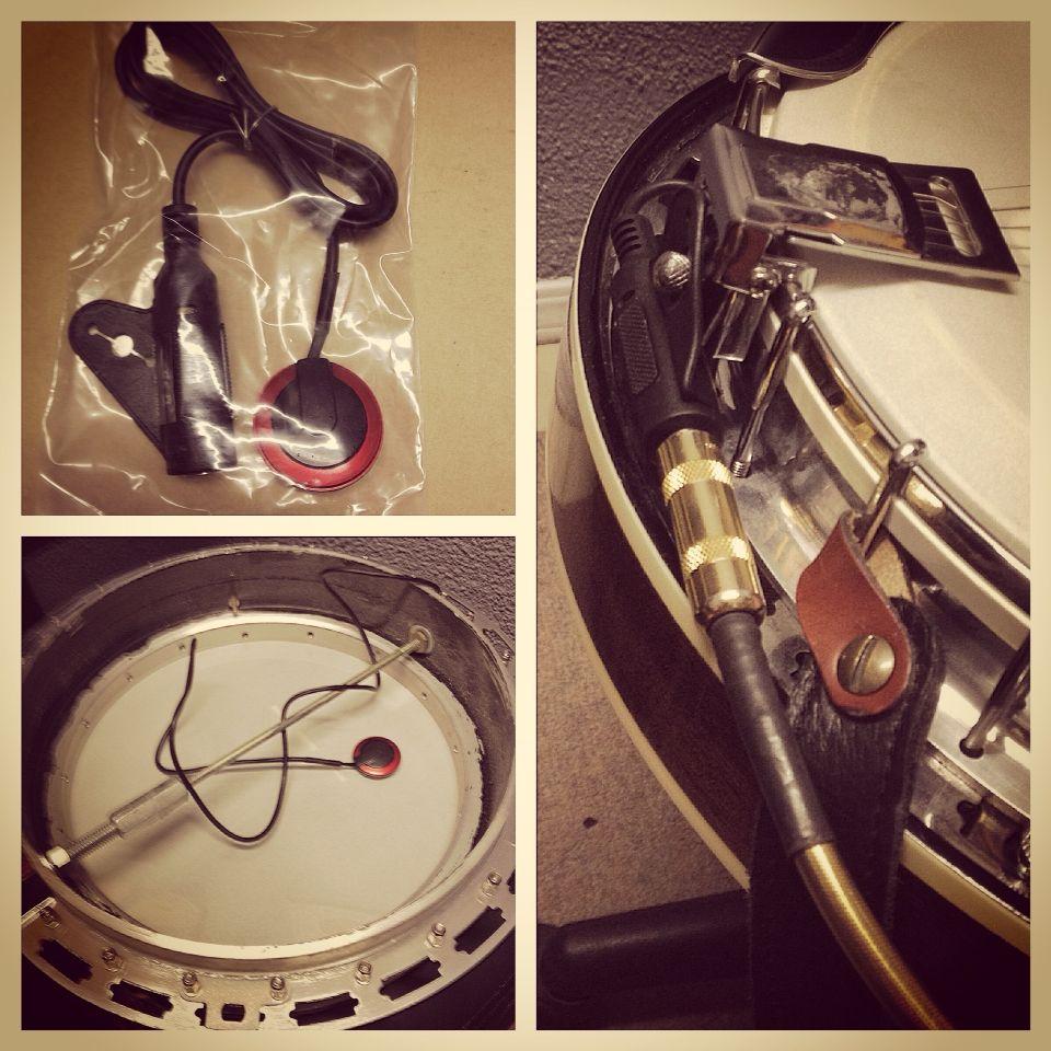 How To Install A Piezo Pickup In A Banjo Banjo Clarinet Music Stuff