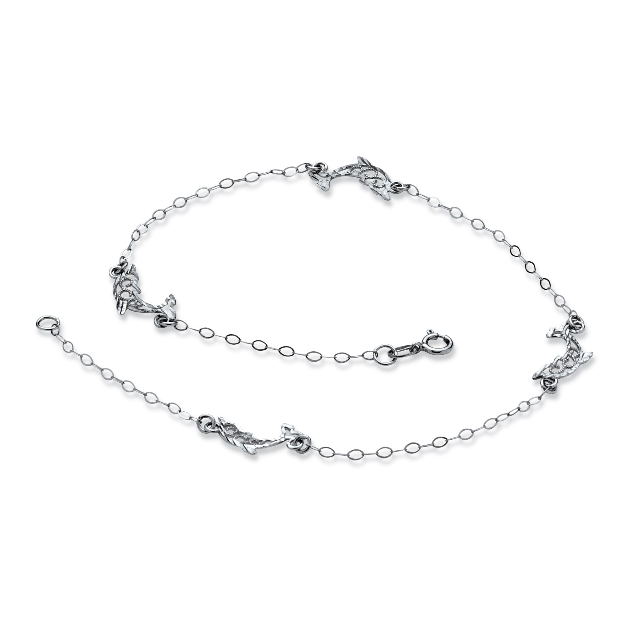 silver gold center sterling picture ankle s p of jewelry anklet chain white dipped real daisy