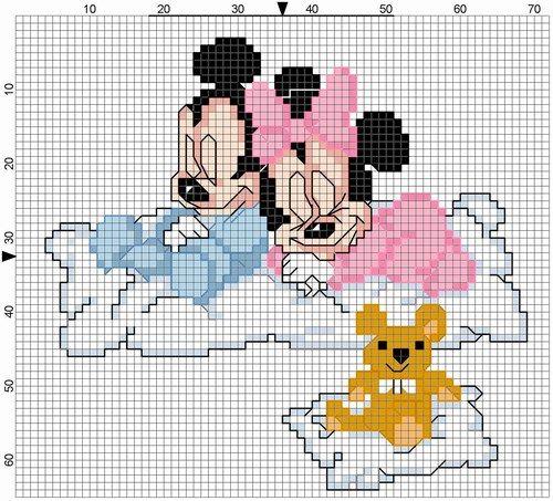 Topolino Fa Il Bagnetto Disney Punto Croce Pinterest