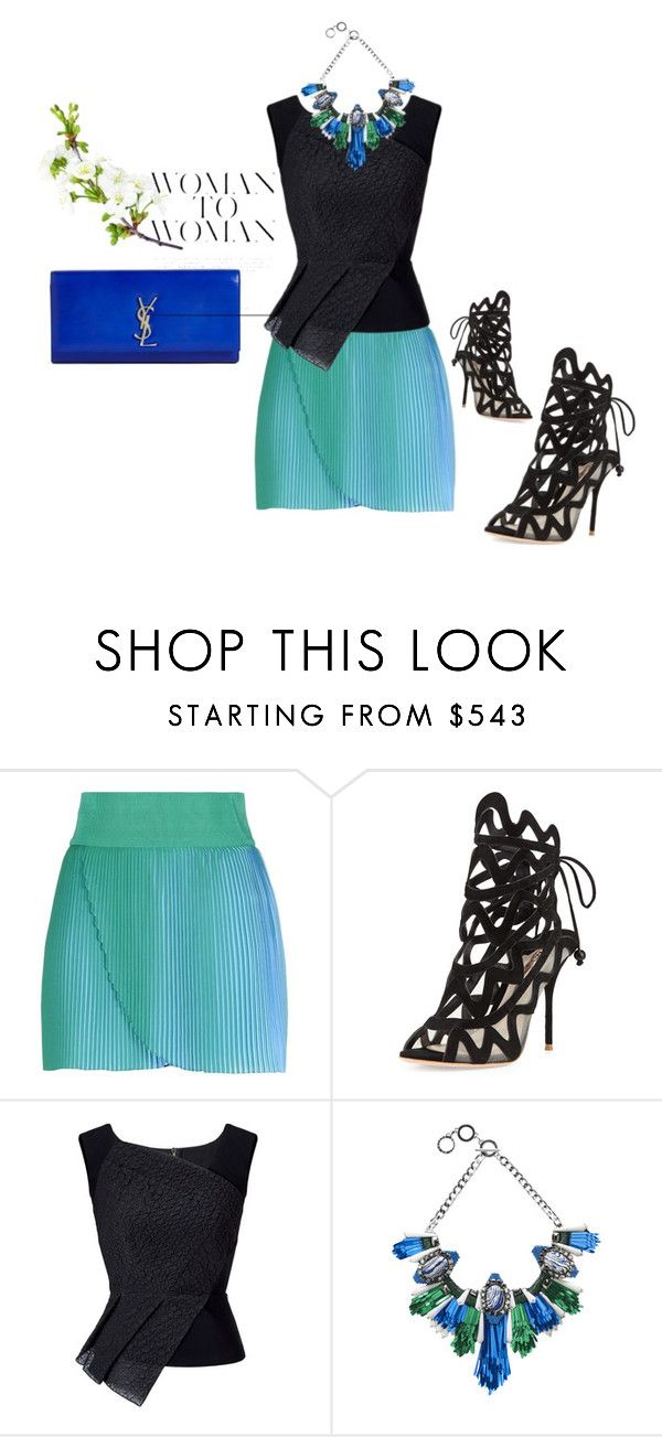 """""""Woman To Woman"""" by dollie-stoudemire-mccall on Polyvore featuring STELLA McCARTNEY, Sophia Webster, Roland Mouret, Forest of Chintz and Yves Saint Laurent"""