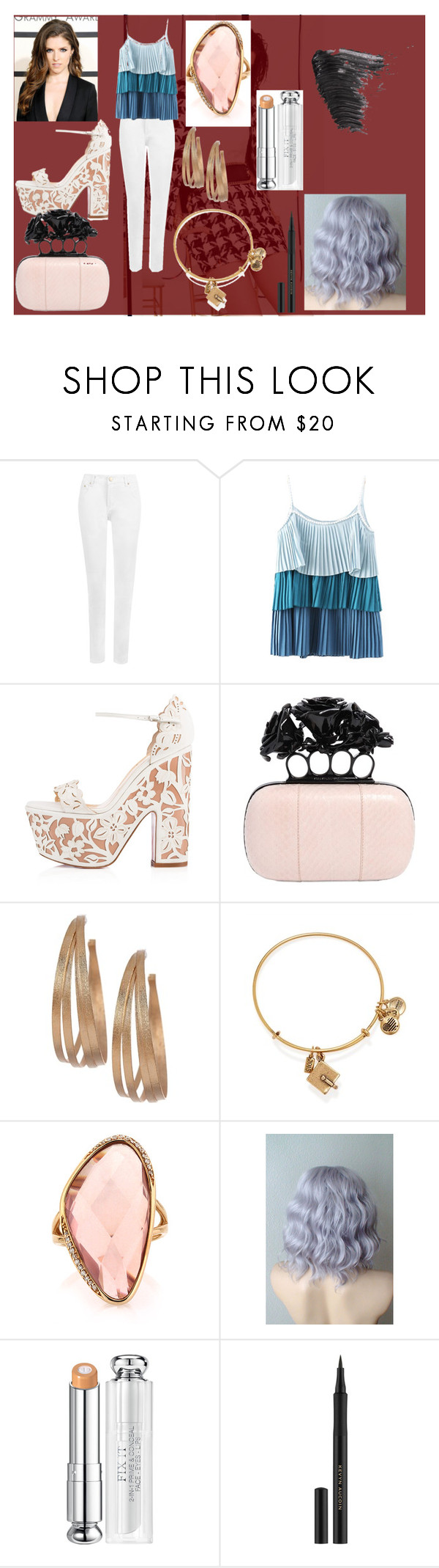 """is about something that"" by evacristelo on Polyvore featuring Balmain, WearAll, Chicnova Fashion, Christian Louboutin, Alexander McQueen, Rivka Friedman, Alex and Ani, Mark Broumand, Christian Dior and Kevyn Aucoin"