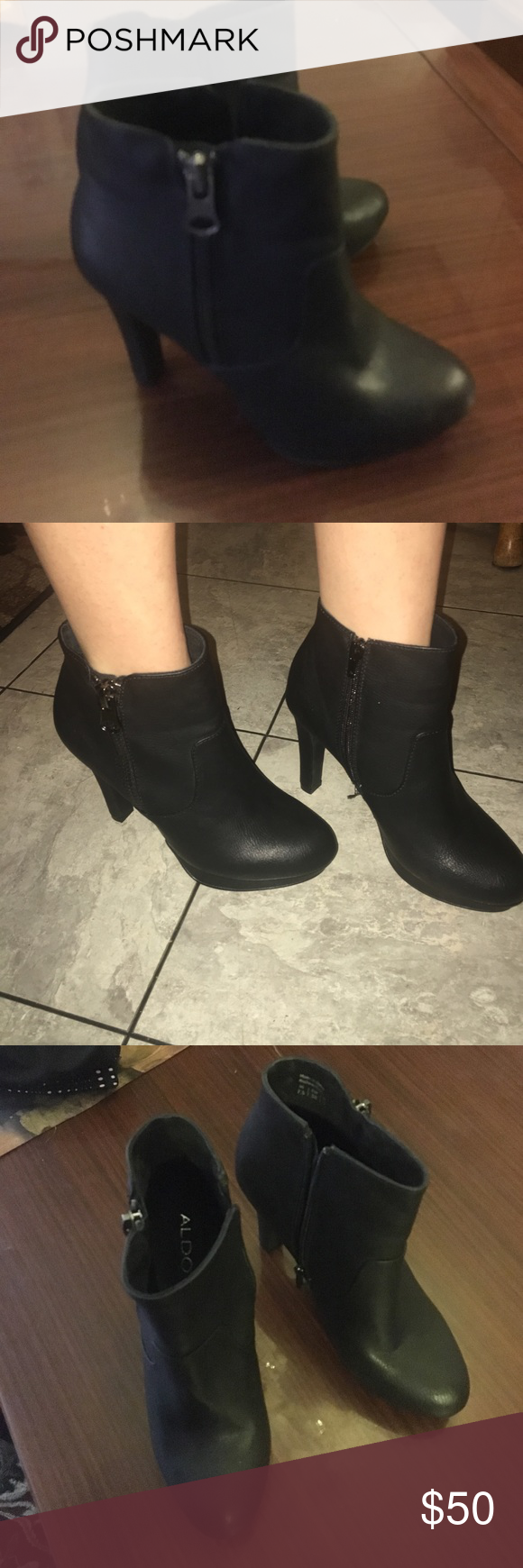 Aldo booties Only worn once. Practically brand new!! ALDO Shoes Heeled Boots