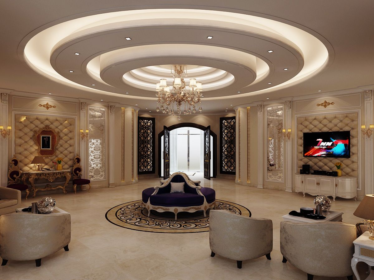 Lobby arabic style | Bedroom false ceiling design, Ceiling ...