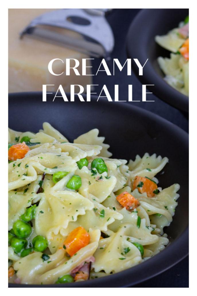 Creamy Farfalle Easy Pasta Dish My German Recipes Recipe Easy Pasta Dishes Easy Pasta Pasta Dishes