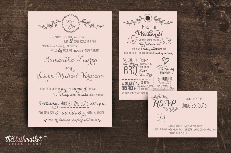 Handwritten Love Wedding Invitation Suite (DIGITAL FILE)   Wedding ...