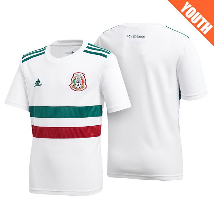 Youth Mexico 2018 World Cup Away White Jersey  57f5fa3f3