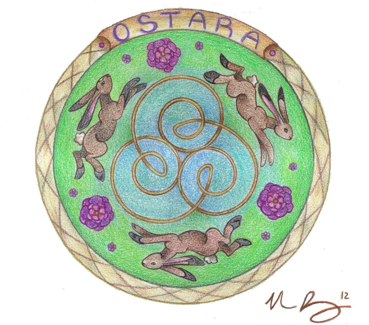 Ostara Mandala by Spiralpathdesigns.deviantart.com on @deviantART