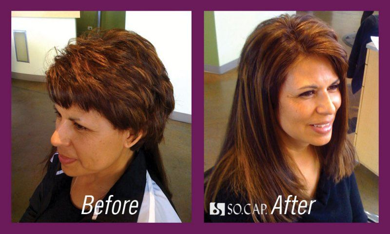 Hair Extensions Before And After Short Hair Hair Extensions