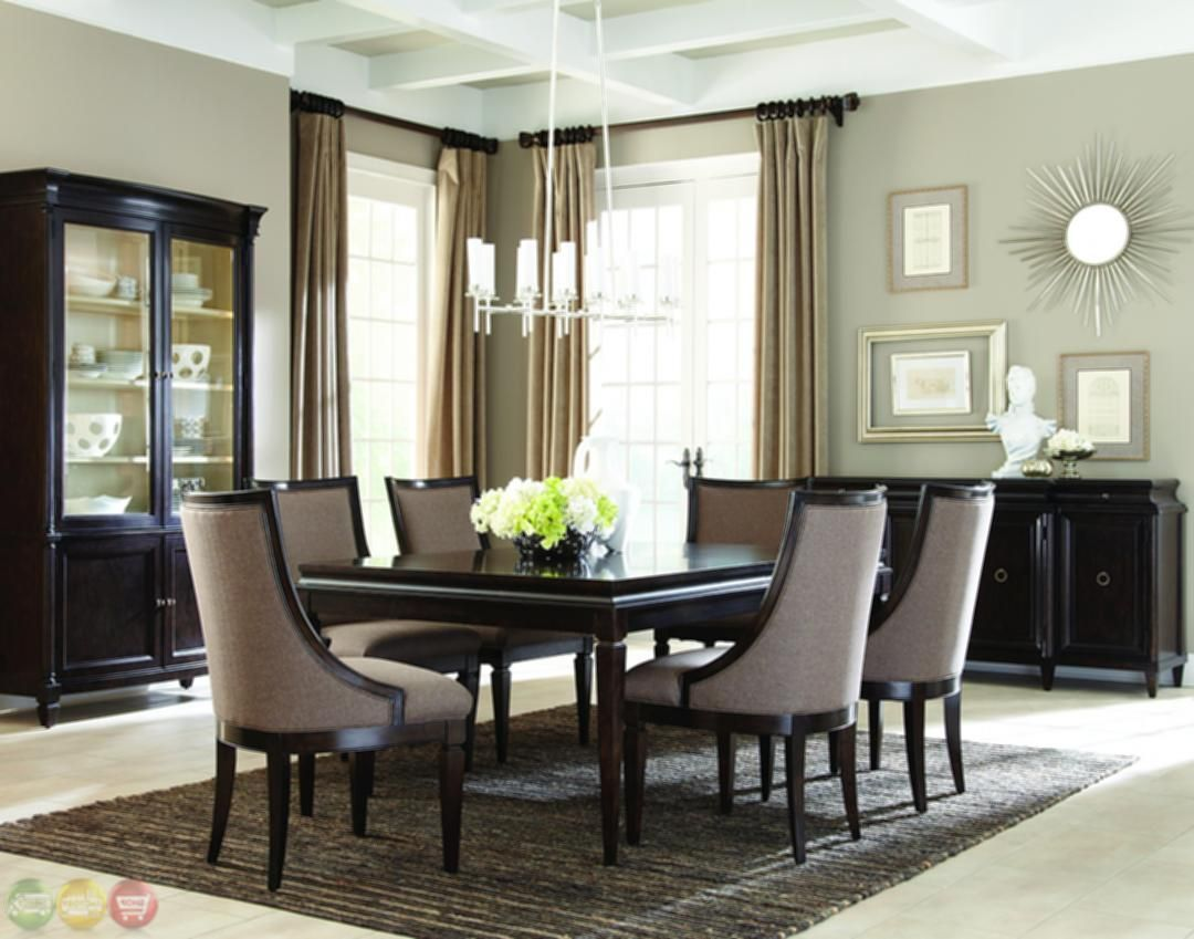Modern formal dining room sets classics contemporary brindle finish formal dining set 4 ideas