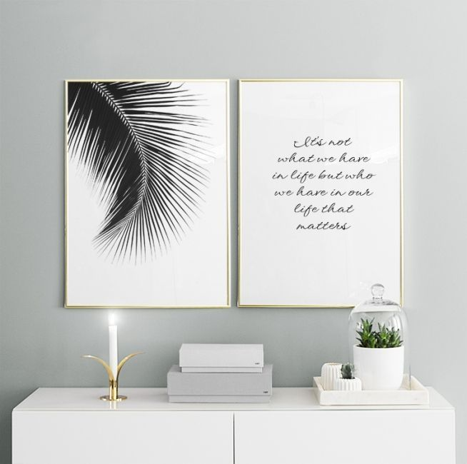 Schöne Poster In Einer Collage