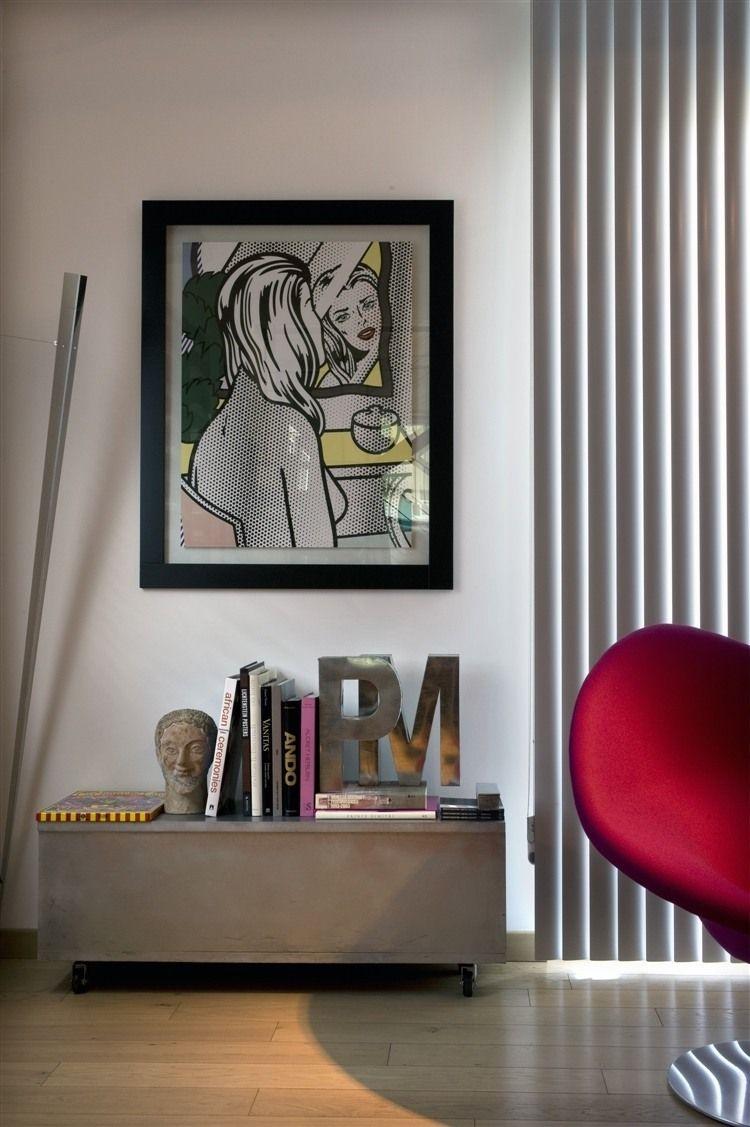Wonderful Contemporary Residence Design With Italian Sleek Design: Artistic  Ornament Contemporary Italian Residence Interior Minimalist Bookshelf