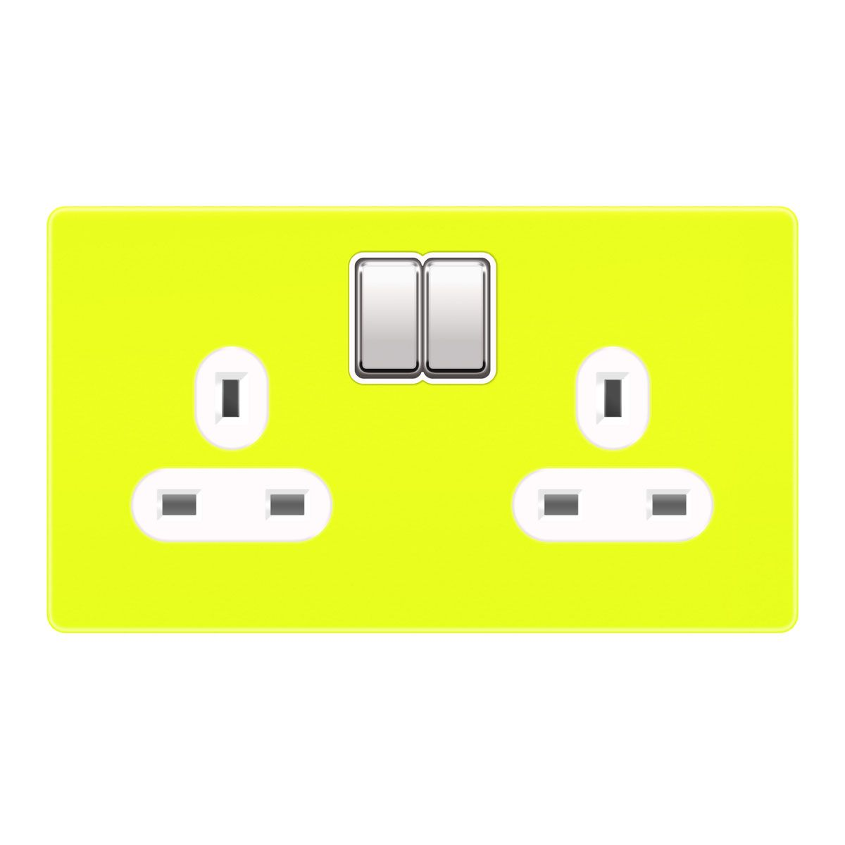 Plug Sockets 2 Gang 13A – Sulphur Yellow RAL 1016 | FC REWIRE PARTS ...