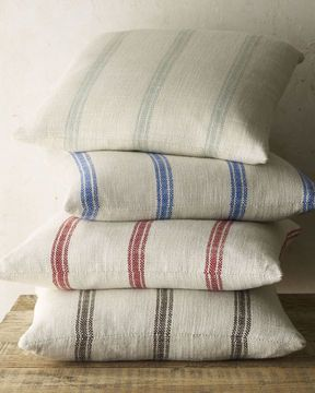 French Laundry Home 20sq Striped Pillow Pillows Pillow Covers