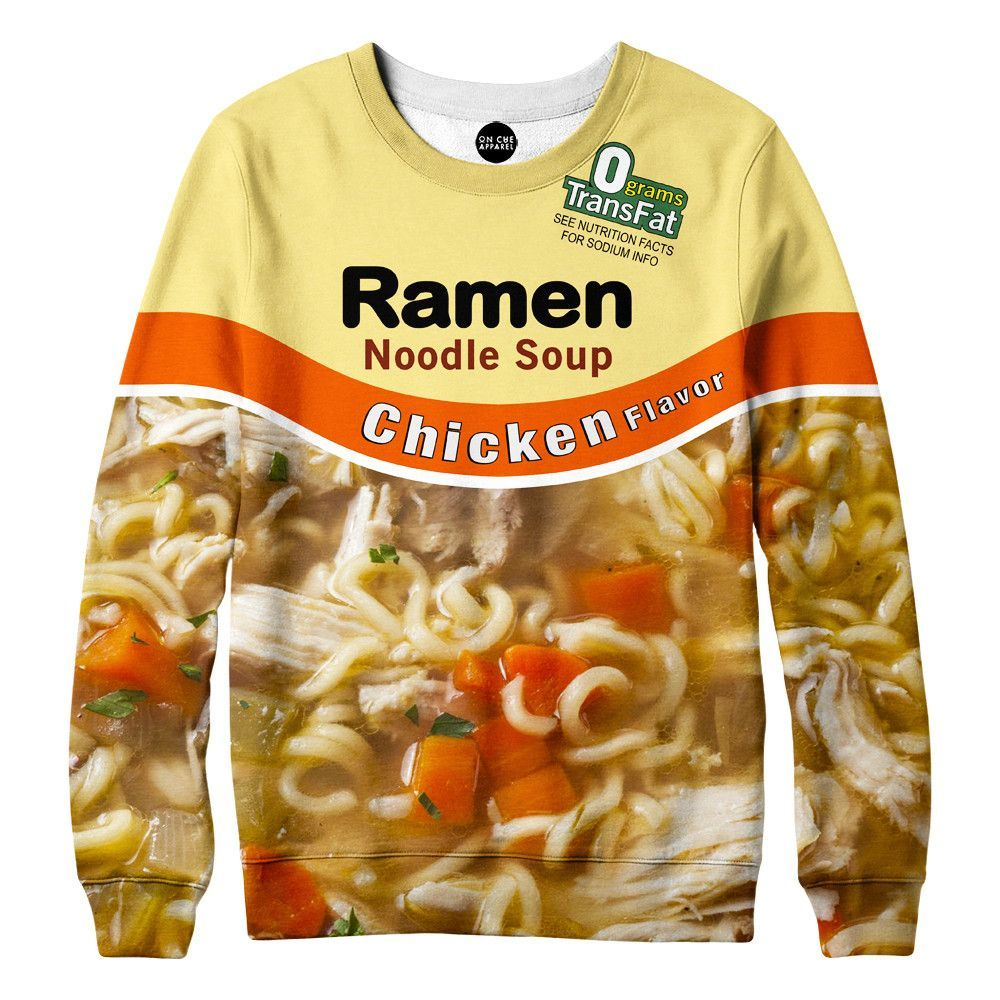 Chicken Ramen Noodle Soup Sweatshirt Products Ramen Noodles