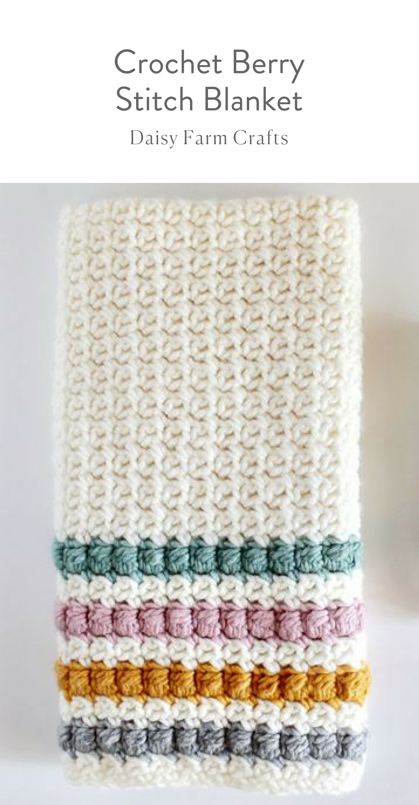 Free Pattern - Crochet Berry Stitch Blanket #moderncrochet ...
