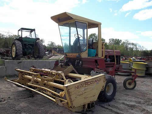 New Holland 1495 hay equipment salvaged for used parts. This unit is available at All States Ag Parts in Ft. Atkinson, IA. Call 877-530-3010 parts. Unit ID#: EQ-24300. The photo depicts the equipment in the condition it arrived at our salvage yard. Parts shown may or may not still be available. http://www.TractorPartsASAP.com
