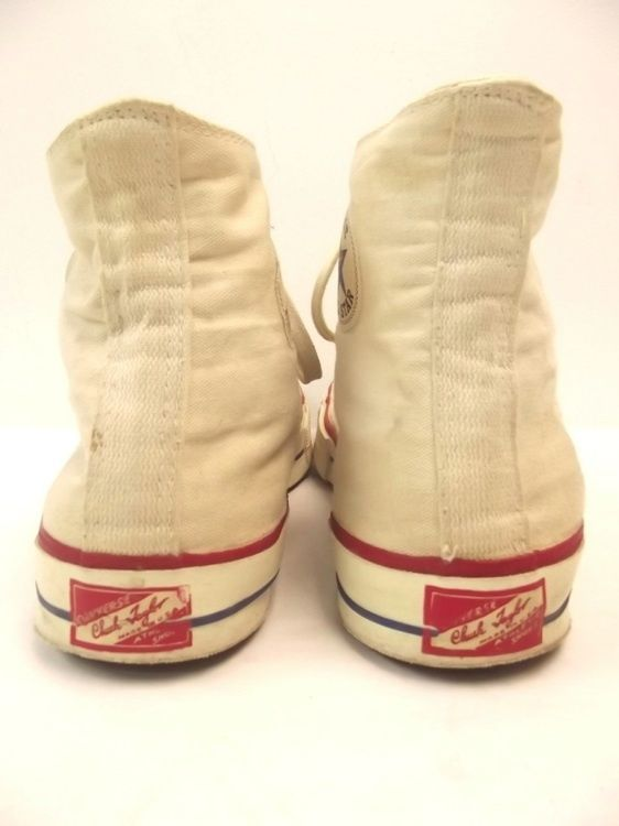 f4e312ba01c2 Vtg 50s CONVERSE CHUCK TAYLOR Red Label Canvas USA Sneakers Shoes white  vintage