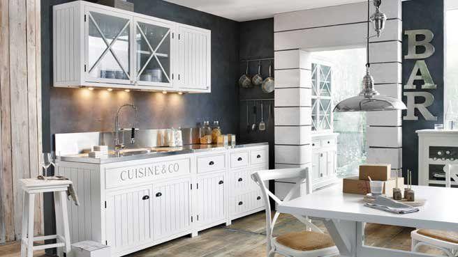 Une Déco De Style Bord De Mer Dans La Cuisine Cuisine Bord De - Maison du monde meuble de cuisine pour idees de deco de cuisine