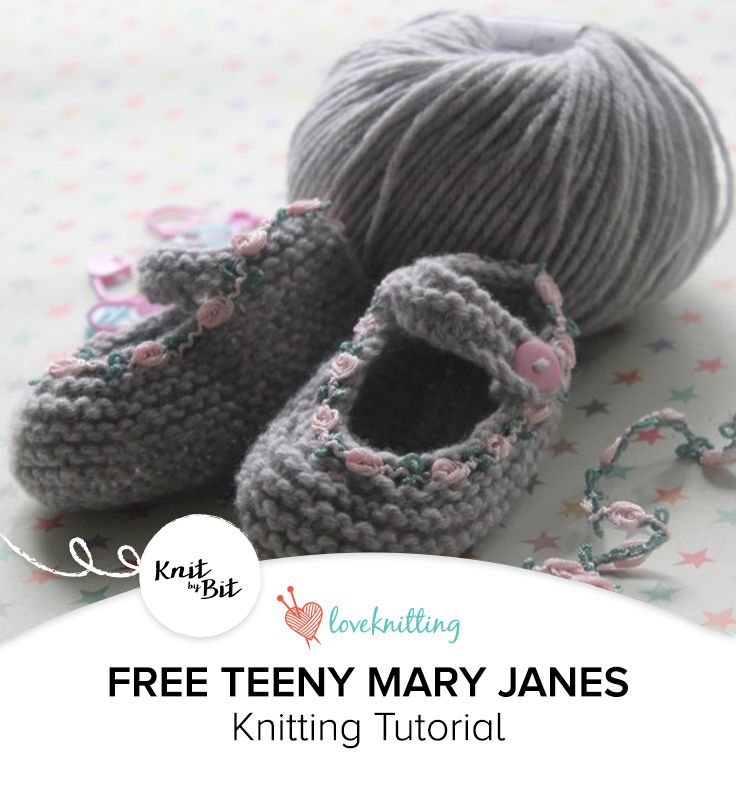 Knit By Bit Free Baby Mary Janes Knitting Pattern At Loveknitting