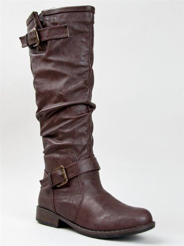 Bamboo MONTAGE-02N Women Slouchy Crinkle Buckle Detail Knee High Riding Boot ZOOSHOO Bamboo, http://www.amazon.com/dp/B008VFL1FY/ref=cm_sw_r_pi_dp_9wasqb1252H8C