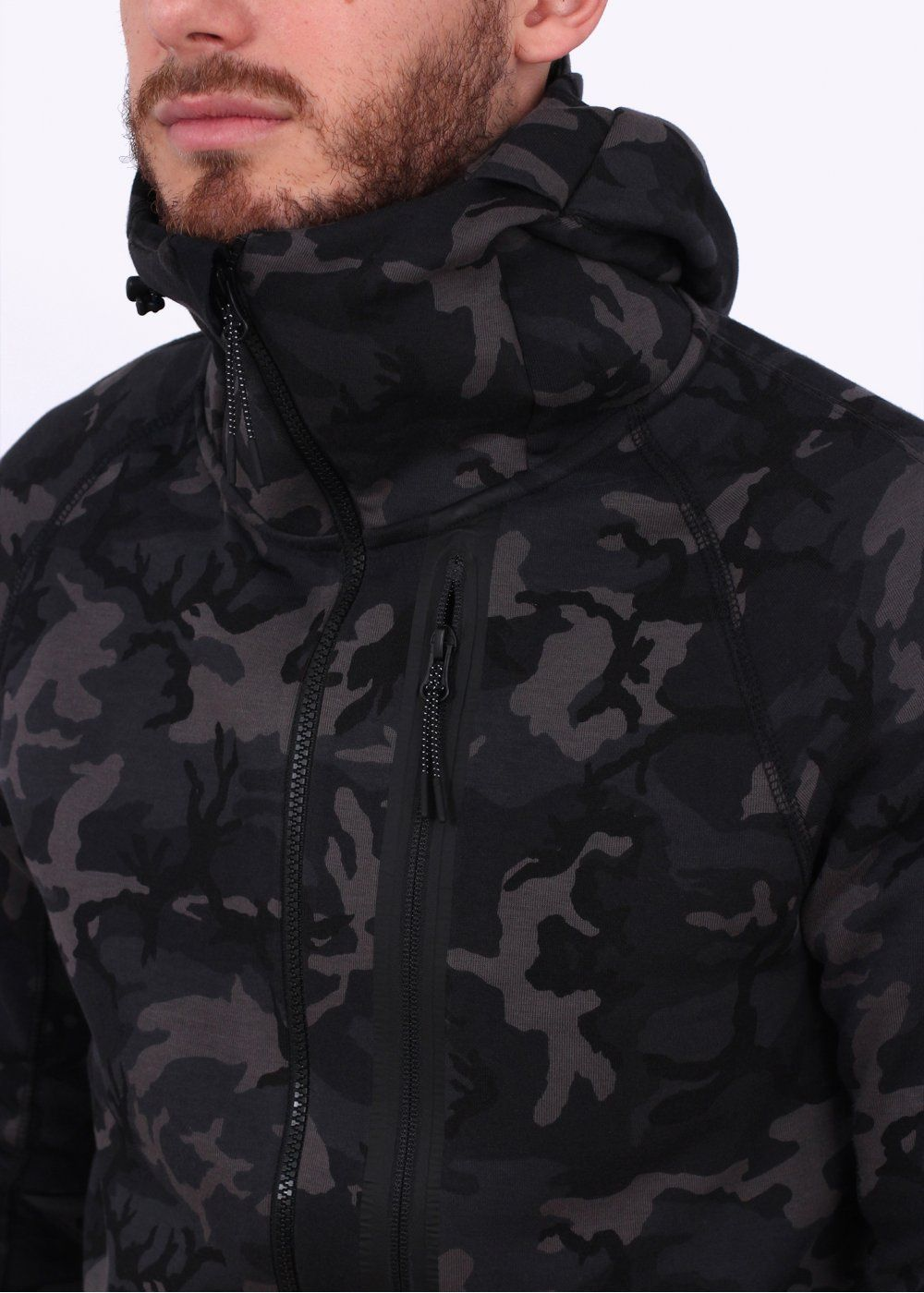 a4cf571a4605 Nike Apparel Tech Fleece Camo Hoody - Medium Ash