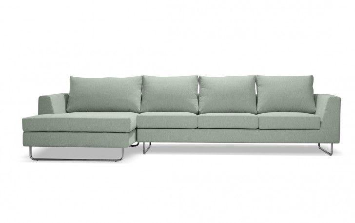 sea-foam green couch