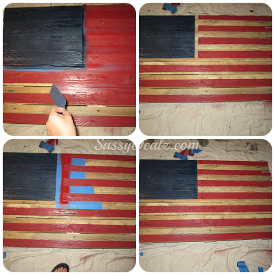 DIY How To Make An American Flag Out Of A Wood Pallet Step By Tutorial W Pictures 4thofjuly